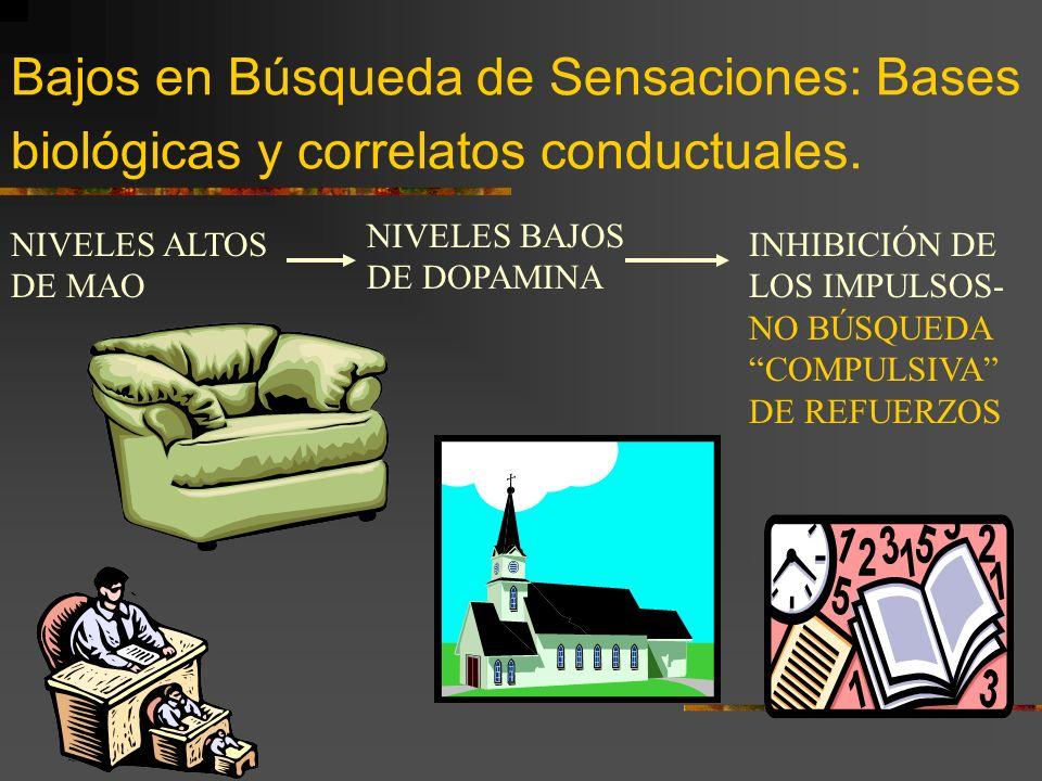 Bajos en Búsqueda de Sensaciones: Bases biológicas y correlatos conductuales.