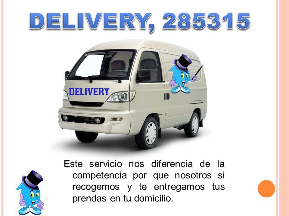 DELIVERY, 285315 Este servicio nos diferencia de la competencia por que nosotros si recogemos y te entregamos tus prendas en tu domicilio.