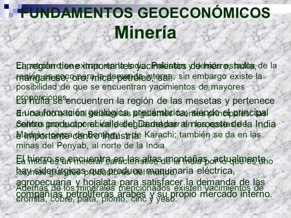 FUNDAMENTOS GEOECONÓMICOS Minería