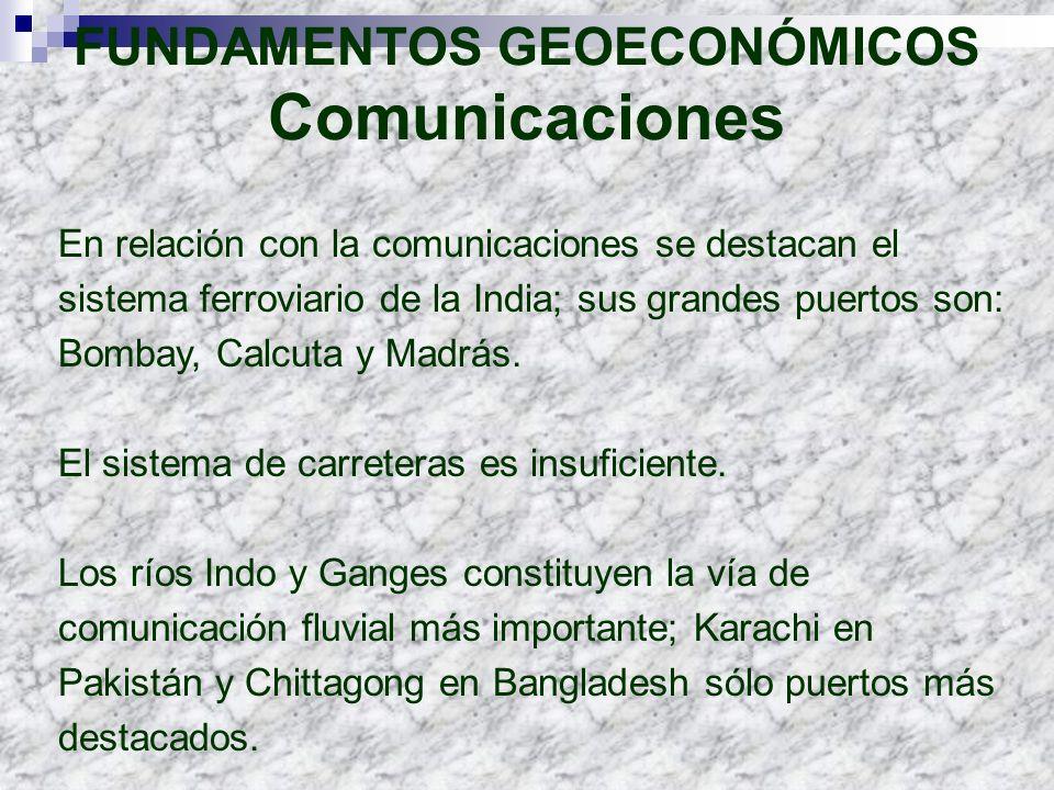 FUNDAMENTOS GEOECONÓMICOS Comunicaciones