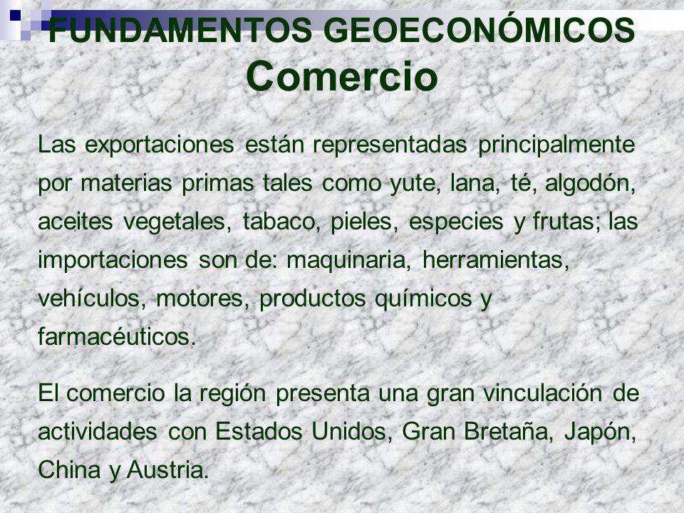 FUNDAMENTOS GEOECONÓMICOS Comercio