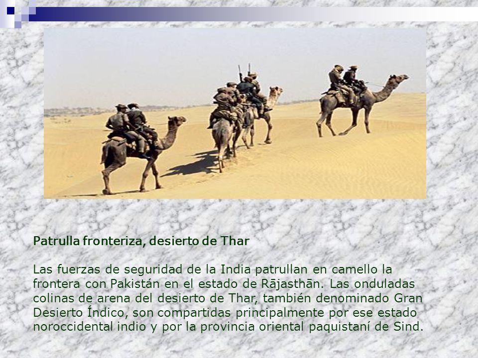 Patrulla fronteriza, desierto de Thar