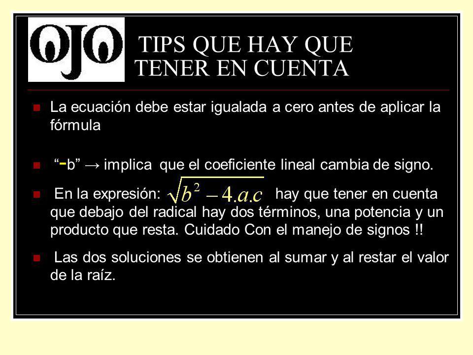 TIPS QUE HAY QUE TENER EN CUENTA