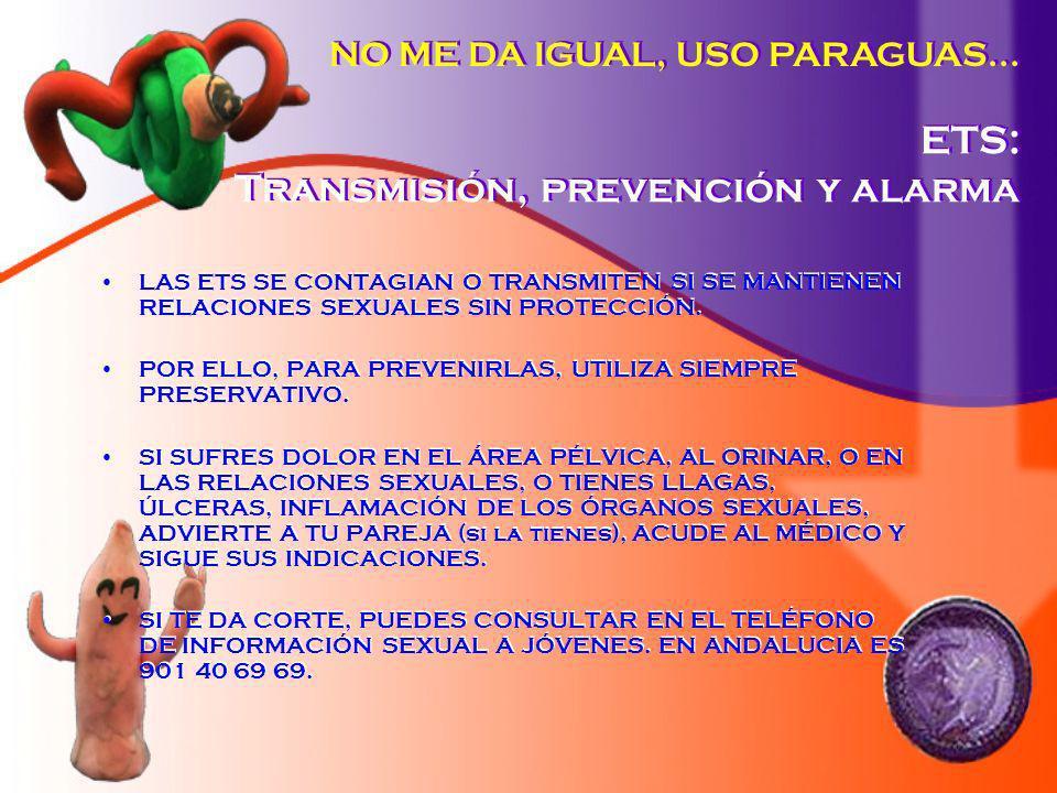 ETS: Transmisión, prevención y alarma