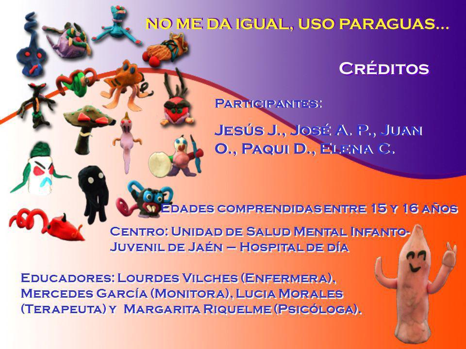 Créditos NO ME DA IGUAL, USO PARAGUAS...