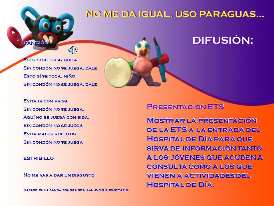 DIFUSIÓN: NO ME DA IGUAL, USO PARAGUAS... Presentación ETS