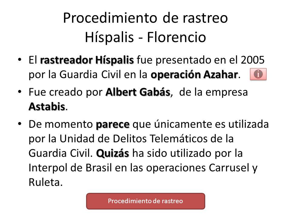 Procedimiento de rastreo Híspalis - Florencio