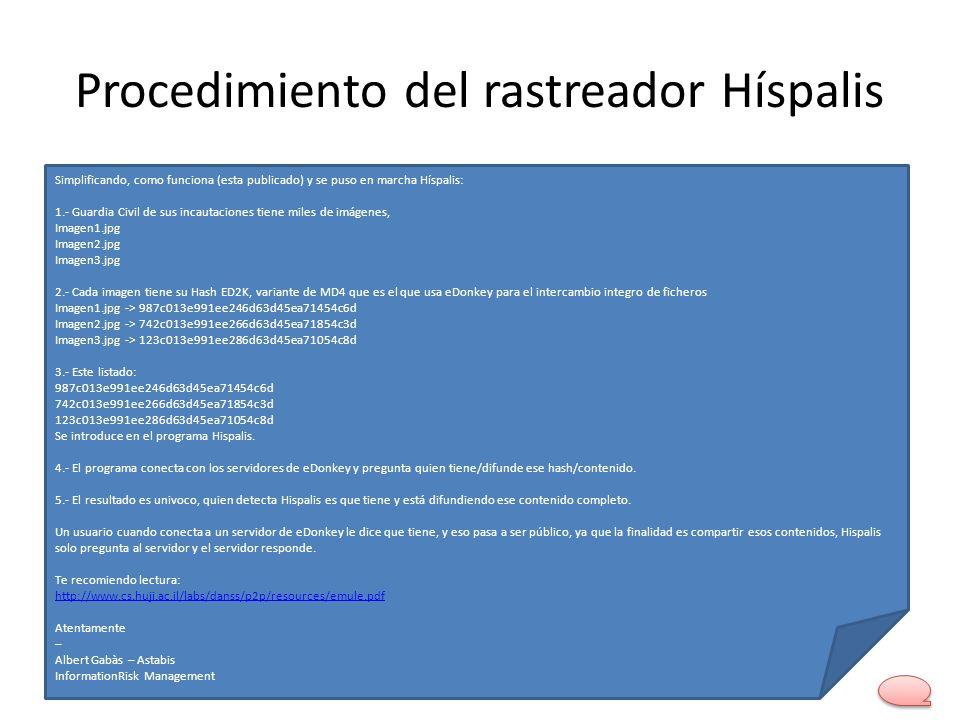 Procedimiento del rastreador Híspalis