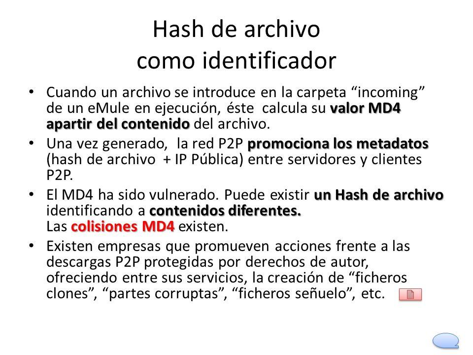 Hash de archivo como identificador
