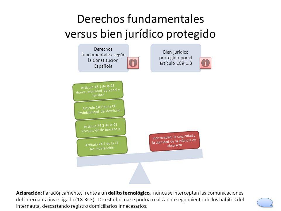 Derechos fundamentales versus bien jurídico protegido