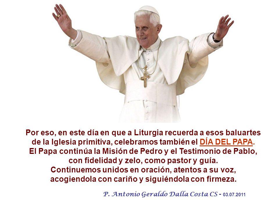 El Papa continúa la Misión de Pedro y el Testimonio de Pablo,
