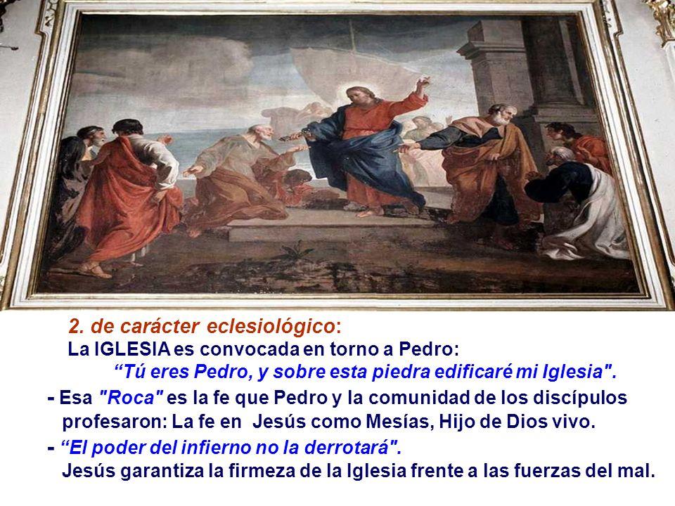 Tú eres Pedro, y sobre esta piedra edificaré mi Iglesia .