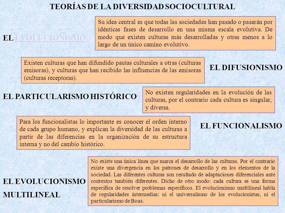 TEORÍAS DE LA DIVERSIDAD SOCIOCULTURAL