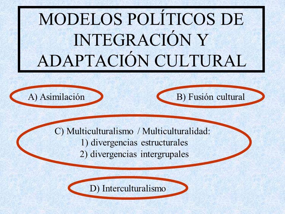 MODELOS POLÍTICOS DE INTEGRACIÓN Y ADAPTACIÓN CULTURAL