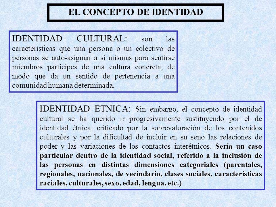 EL CONCEPTO DE IDENTIDAD