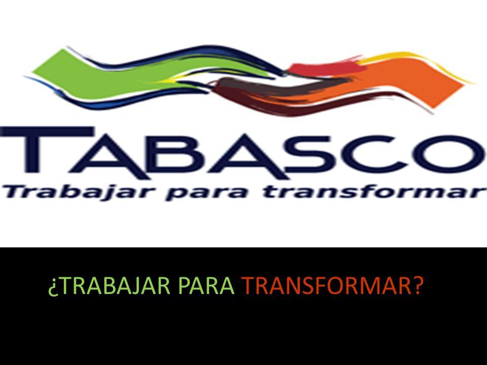 ¿TRABAJAR PARA TRANSFORMAR
