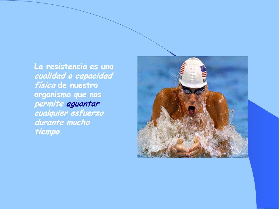 La resistencia es una cualidad o capacidad física de nuestro organismo que nos permite aguantar cualquier esfuerzo durante mucho tiempo.
