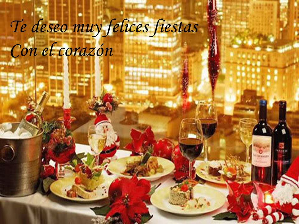Te deseo muy felices fiestas Con el corazón