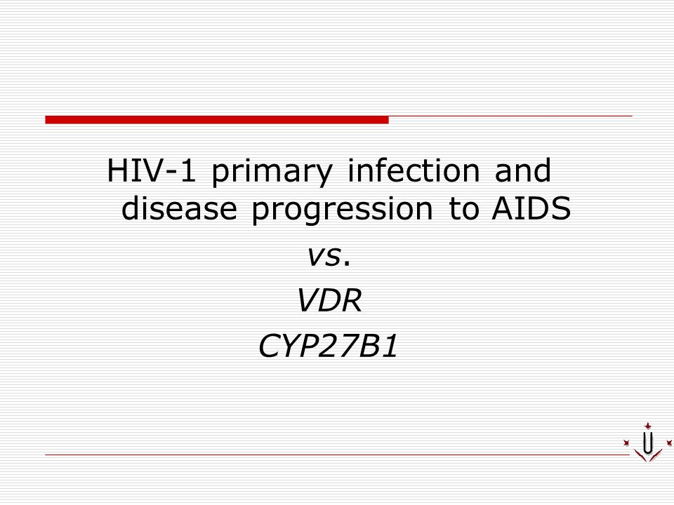 HIV-1 primary infection and disease progression to AIDS