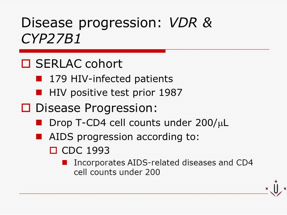 Disease progression: VDR & CYP27B1