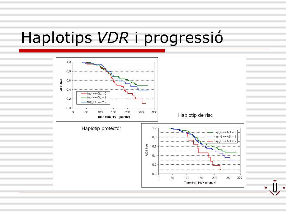 Haplotips VDR i progressió