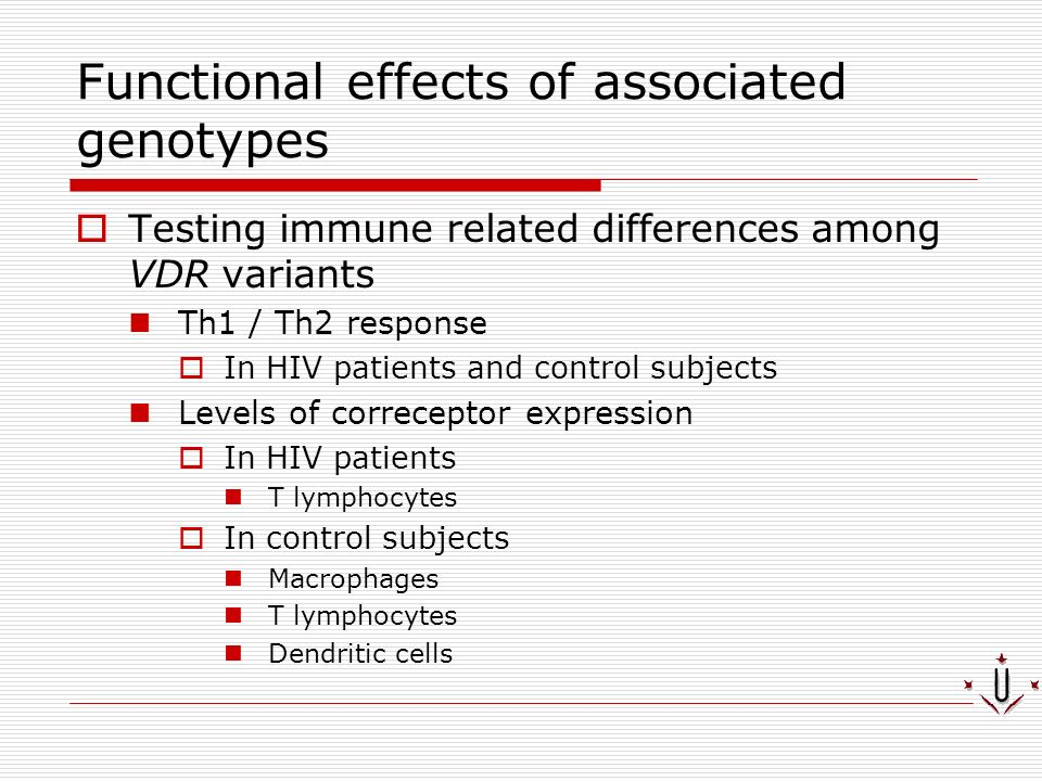 Functional effects of associated genotypes