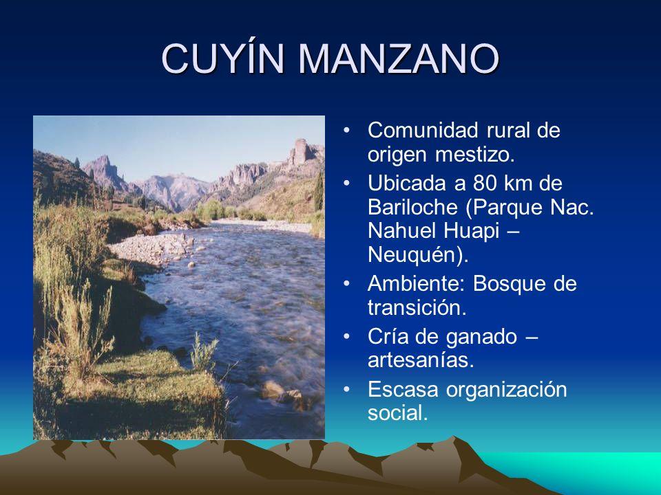 CUYÍN MANZANO Comunidad rural de origen mestizo.