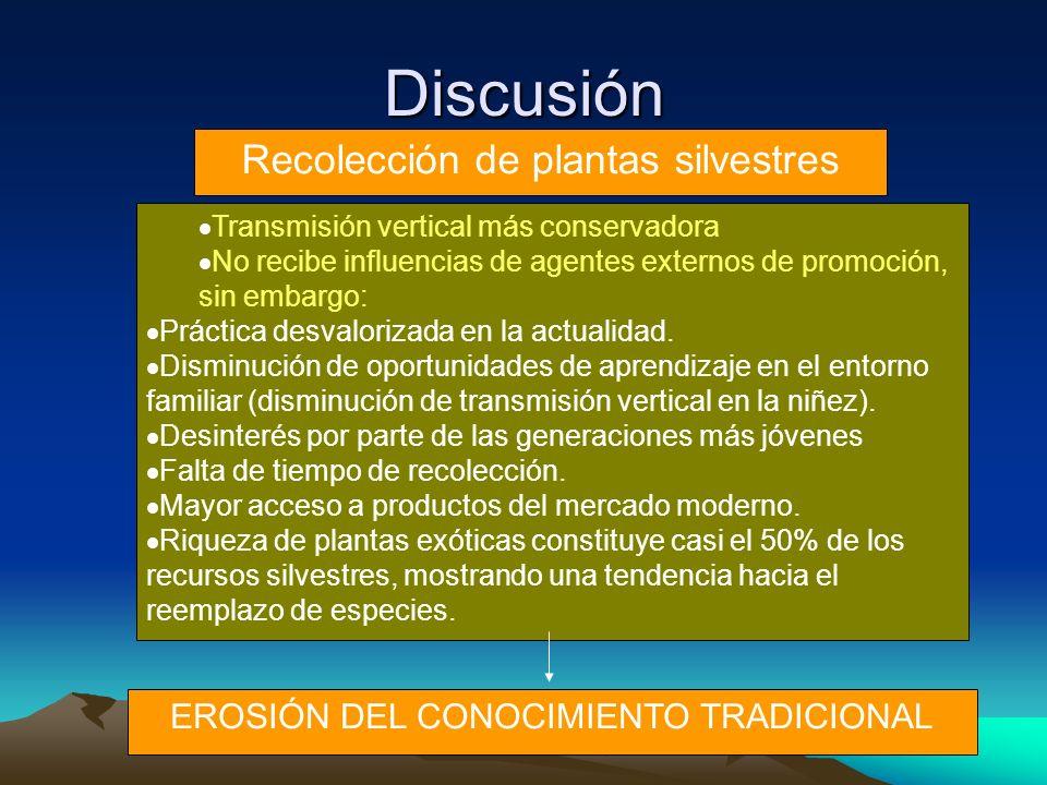 Discusión Recolección de plantas silvestres