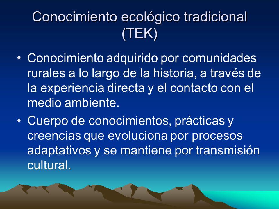 Conocimiento ecológico tradicional (TEK)