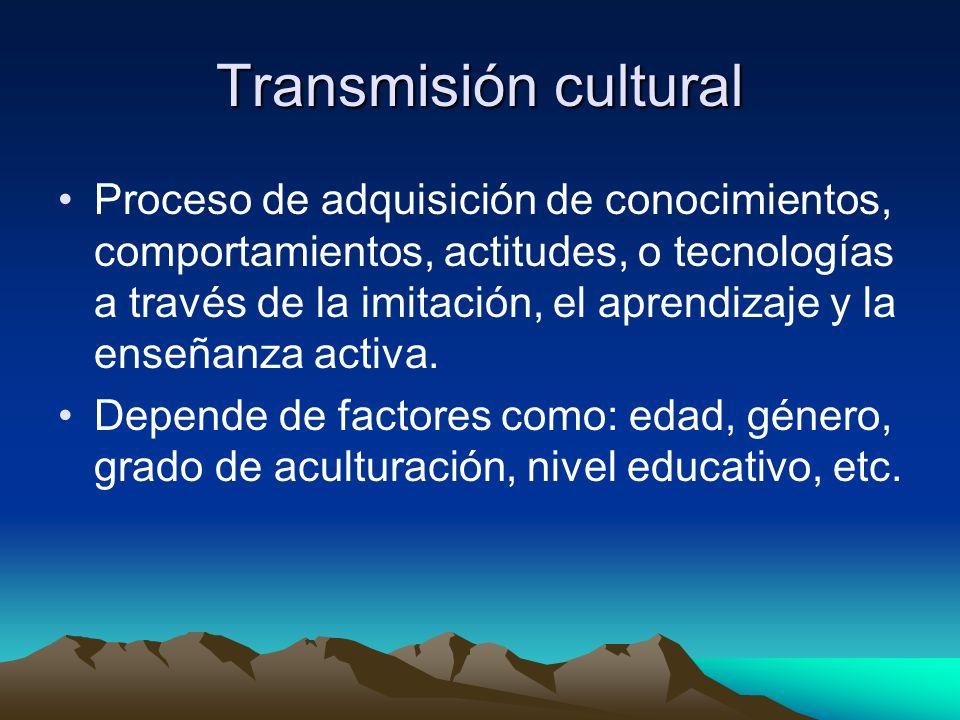 Transmisión cultural