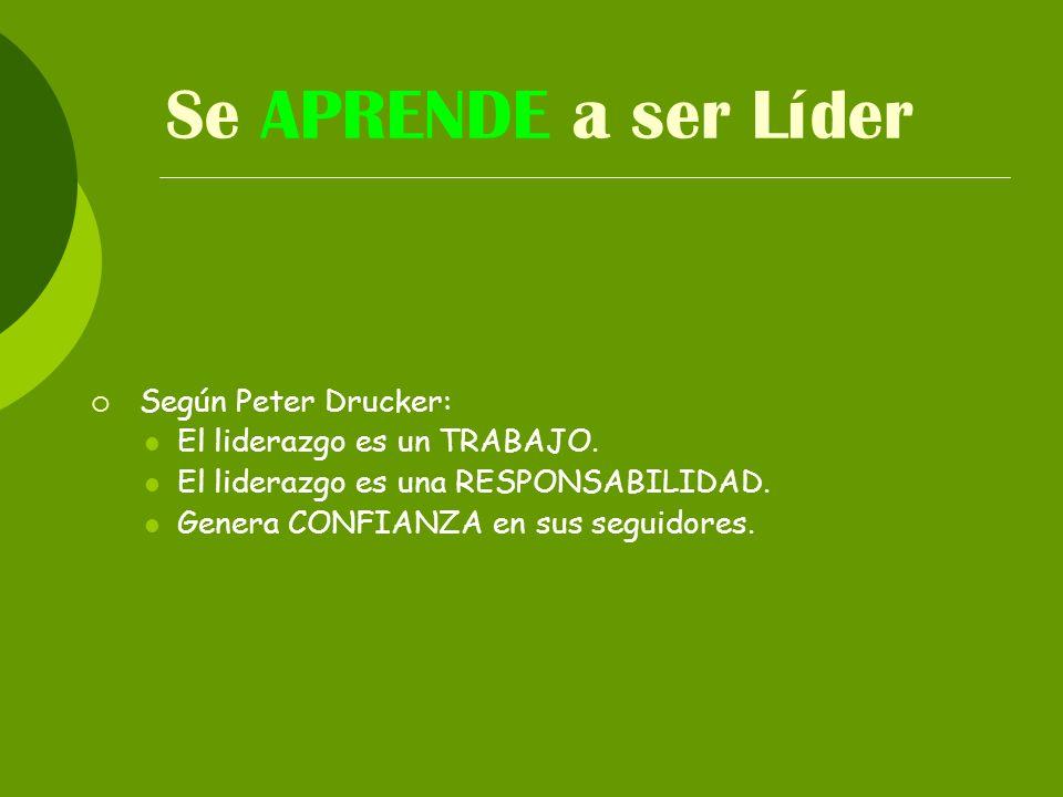 Se APRENDE a ser Líder Según Peter Drucker: