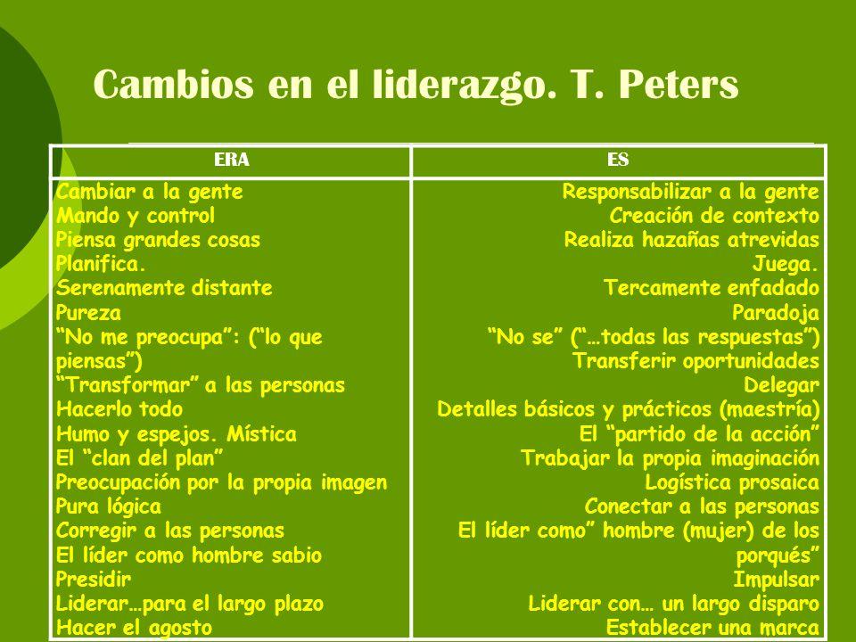 Cambios en el liderazgo. T. Peters