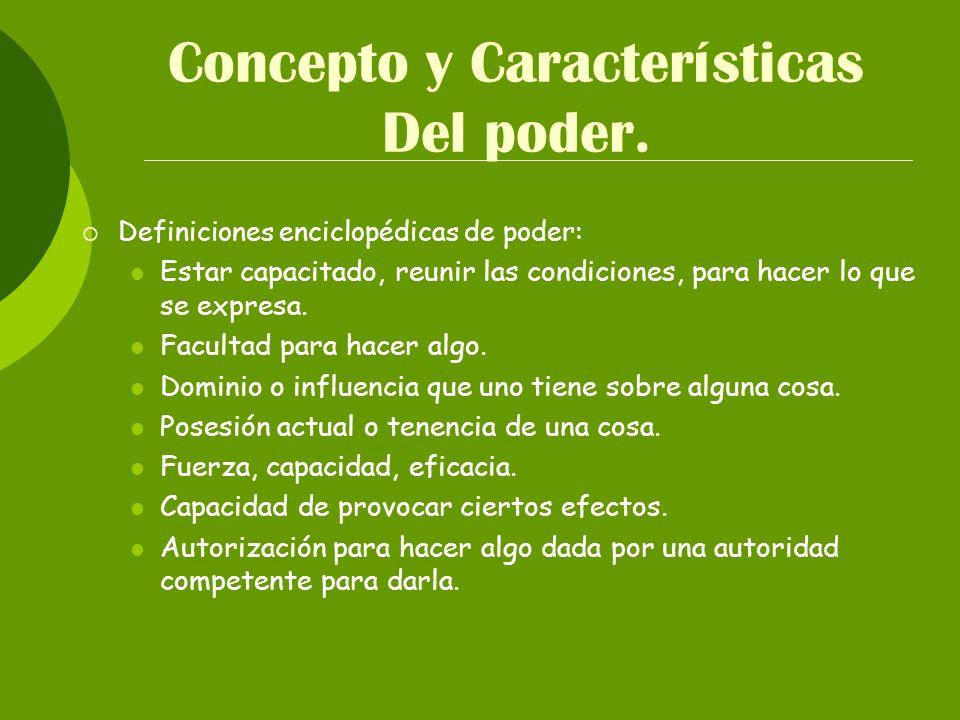 Concepto y Características Del poder.
