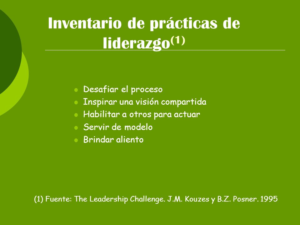 Inventario de prácticas de liderazgo(1)