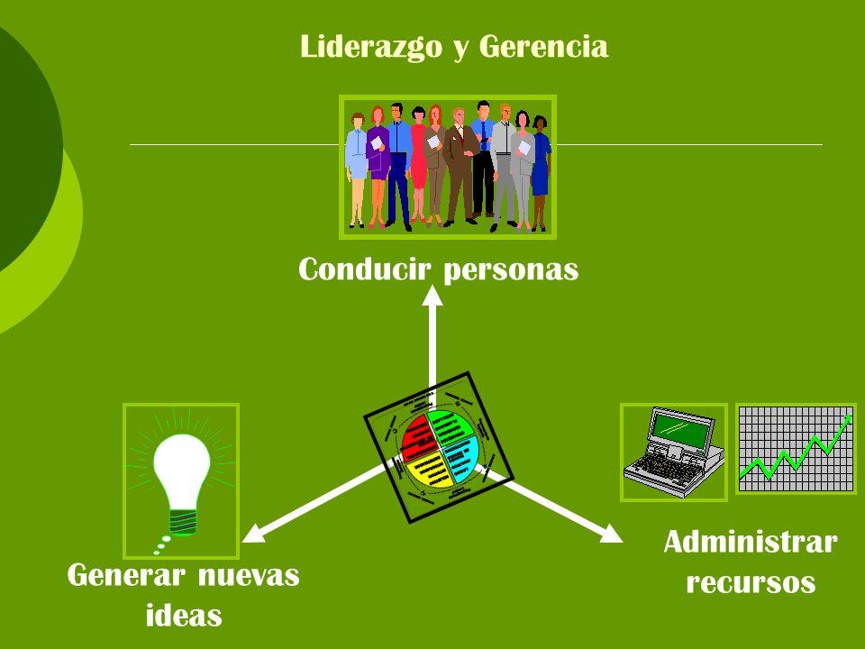 Liderazgo y Gerencia Conducir personas Administrar recursos