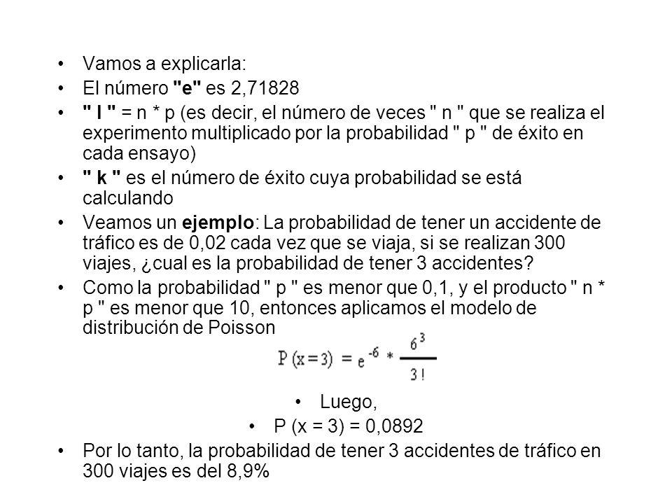 Vamos a explicarla: El número e es 2,71828.