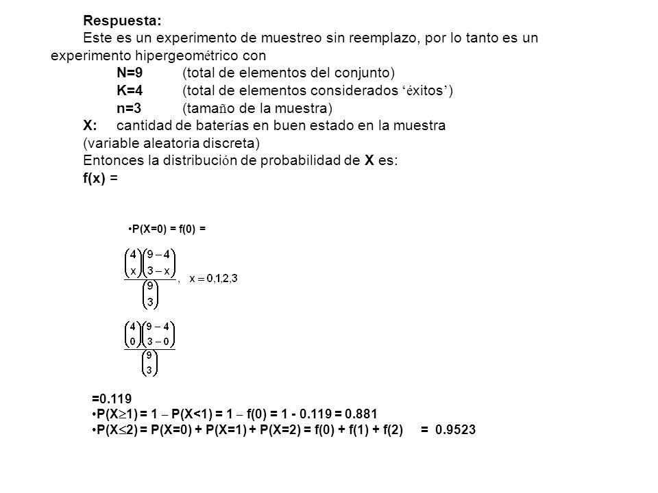 N=9 (total de elementos del conjunto)