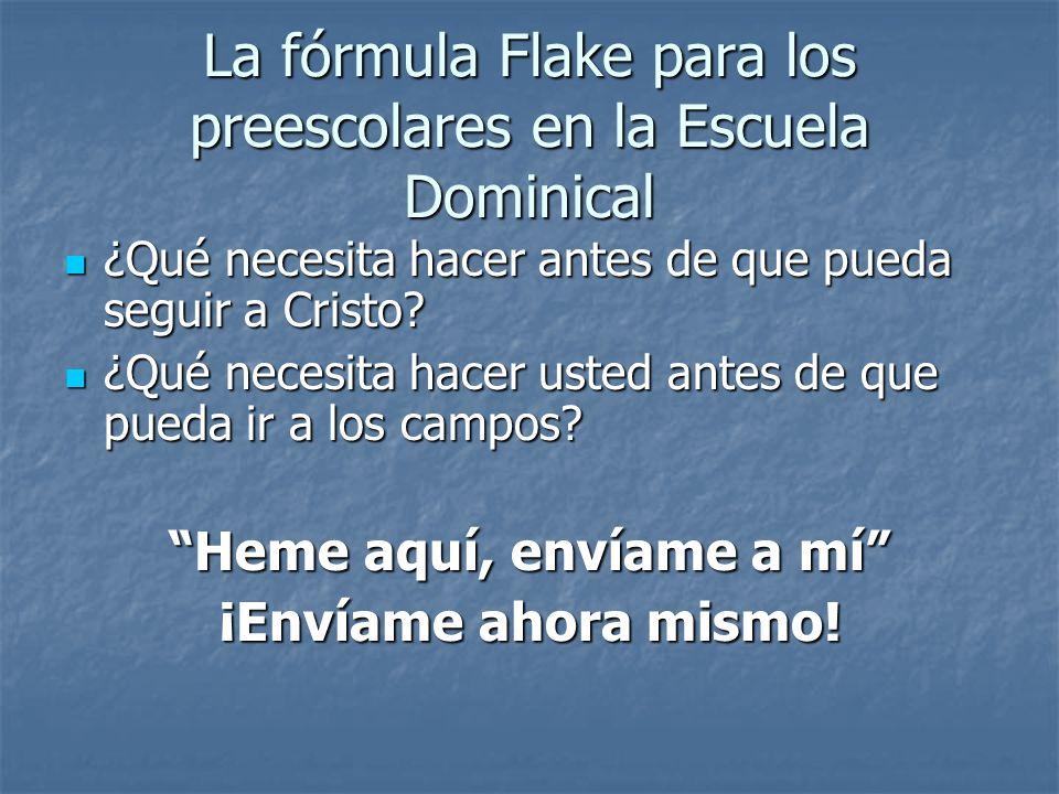 La fórmula Flake para los preescolares en la Escuela Dominical