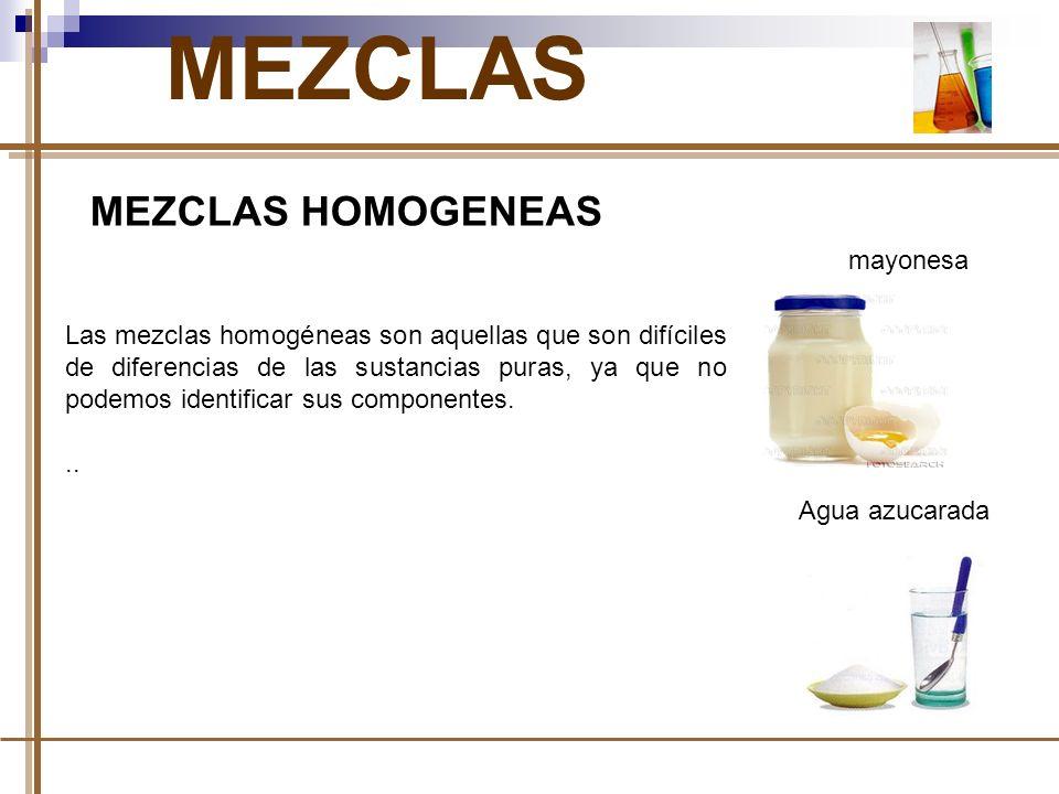 MEZCLAS MEZCLAS HOMOGENEAS mayonesa