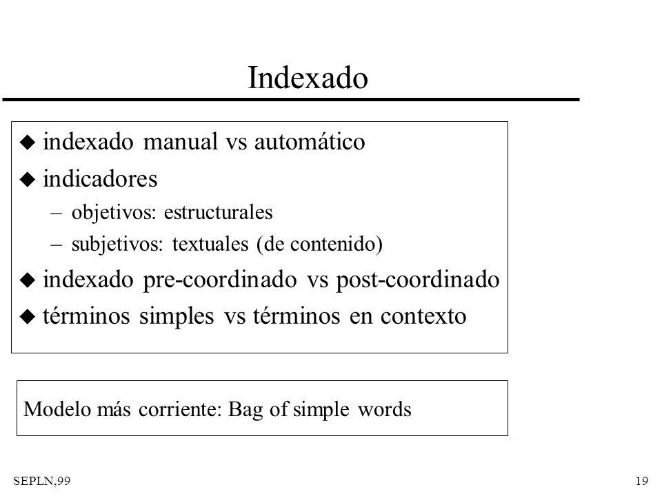 Indexado indexado manual vs automático indicadores
