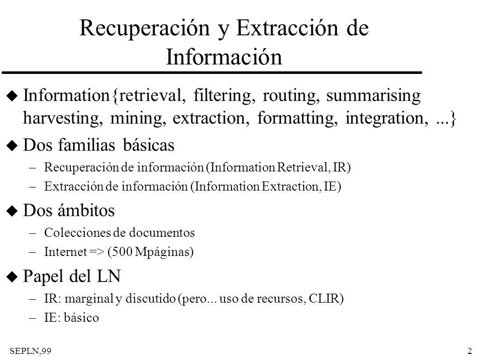 Recuperación y Extracción de Información