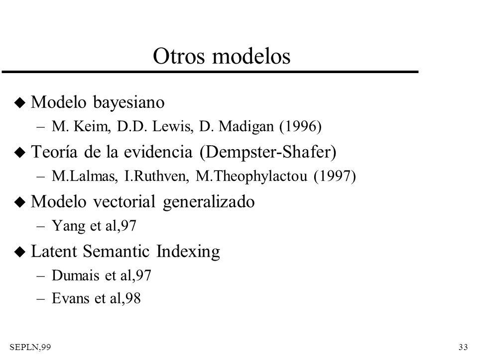 Otros modelos Modelo bayesiano