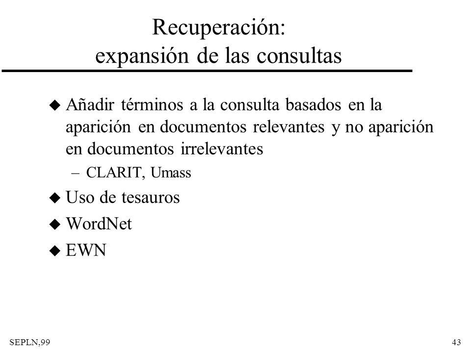 Recuperación: expansión de las consultas