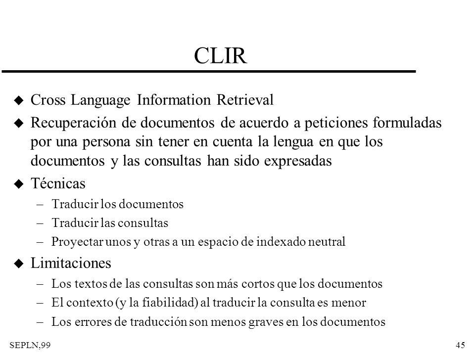 CLIR Cross Language Information Retrieval