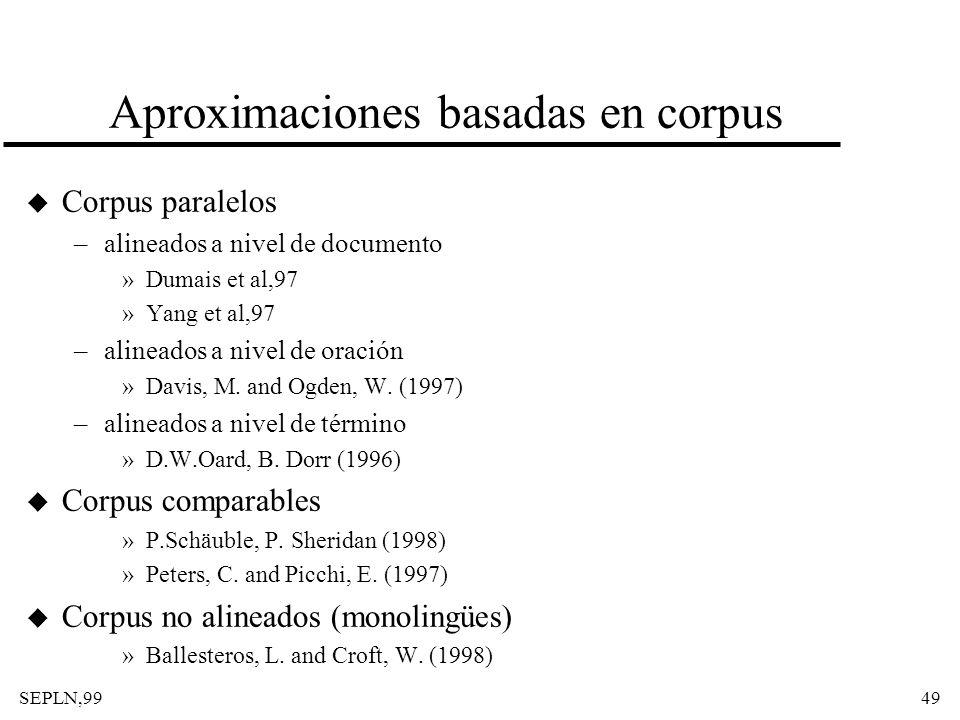 Aproximaciones basadas en corpus