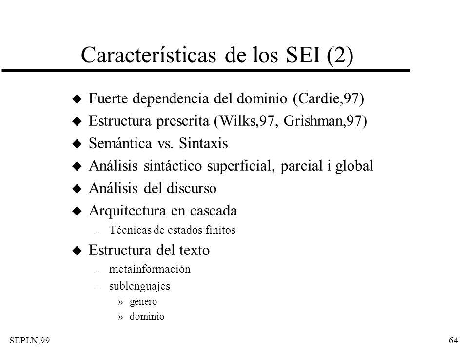 Características de los SEI (2)