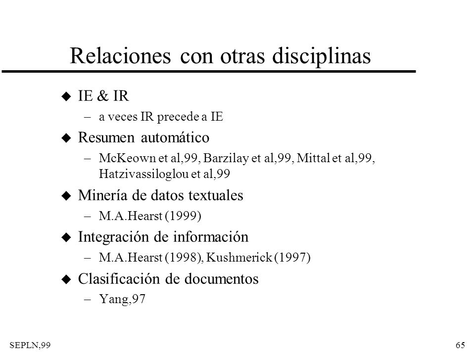 Relaciones con otras disciplinas