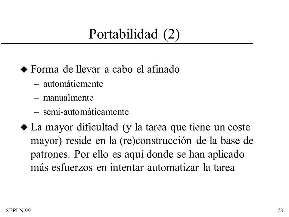 Portabilidad (2) Forma de llevar a cabo el afinado