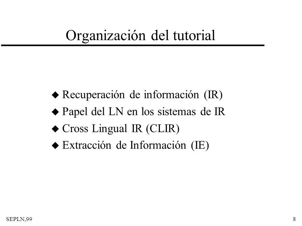 Organización del tutorial
