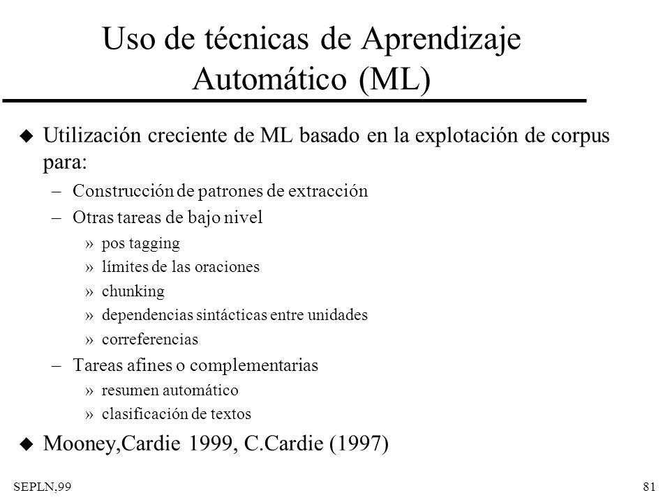 Uso de técnicas de Aprendizaje Automático (ML)